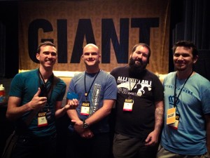 Chad with the founders of Giant: Joel Kilby, Ant Sanders, and Christian Manzella
