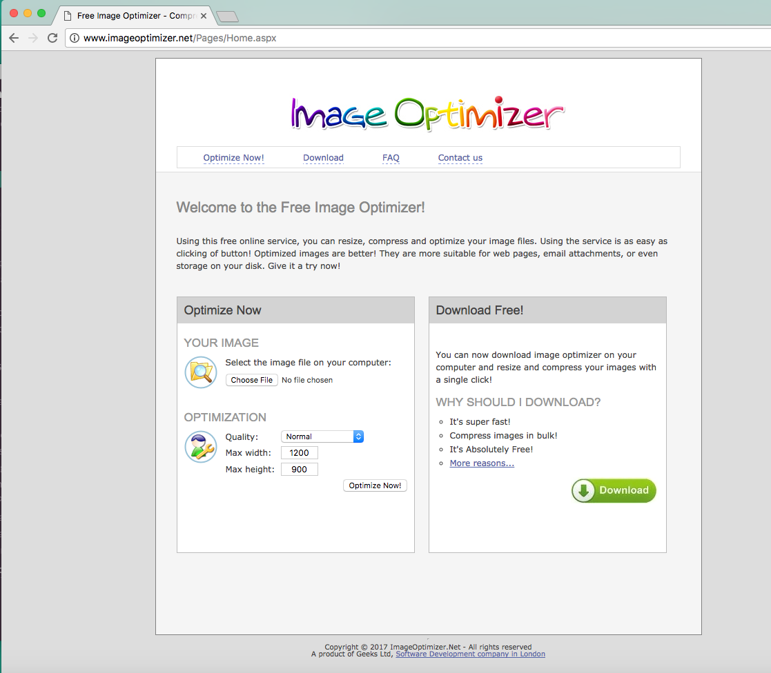 Uploading Images Online & Tools to Reduce File Sizes (2 are Free