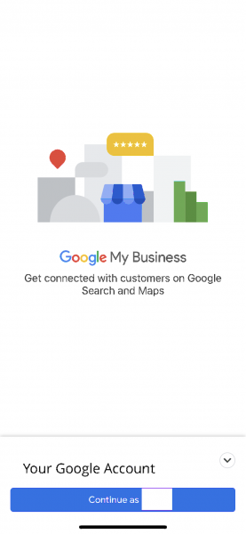 Google My Business Login Screen