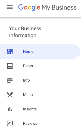 Google My Business - Your Business Information Page