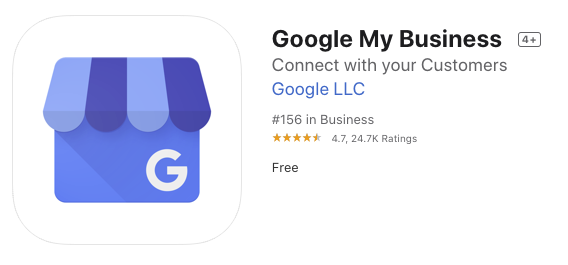 Google My Business App Store Listing